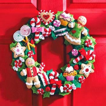 coronas navideñas para la puerta