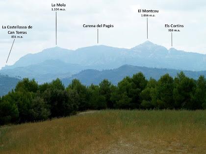 Panoràmica de Sant Llorenç del Munt des del Camí de Sant Amanç a La Grossa