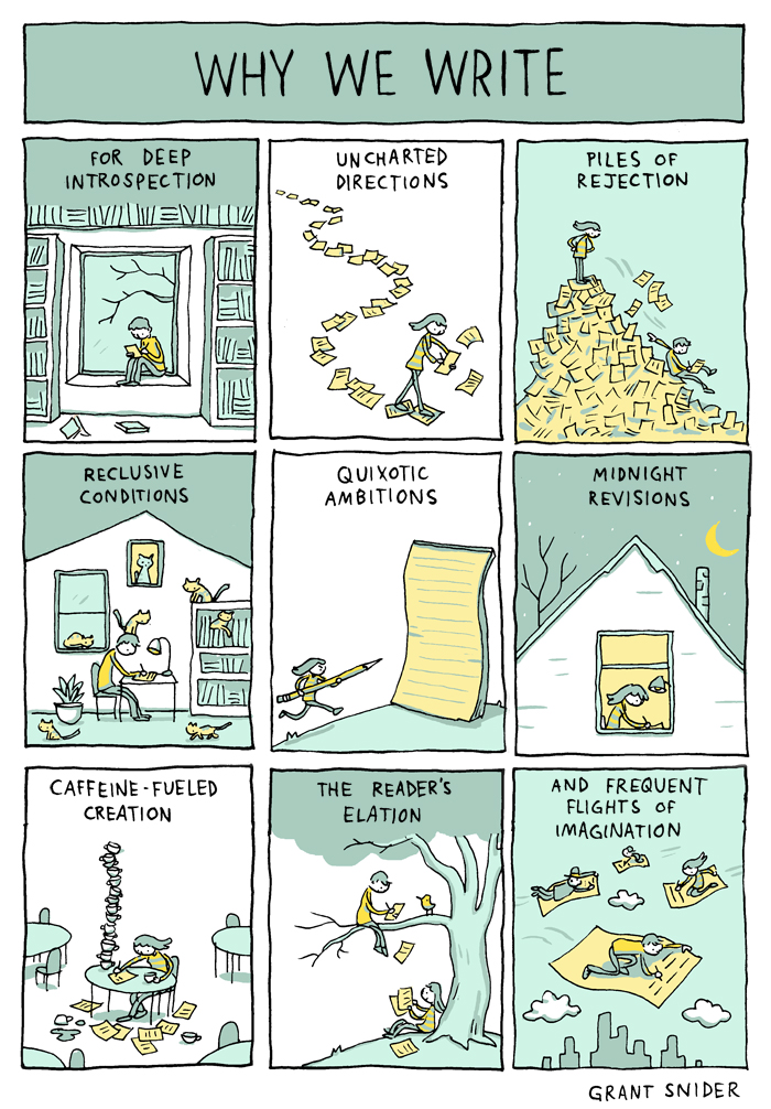 Why We Write from Grant Snider