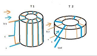 Skematik rangkaian Joule Thief Free Energy Coil