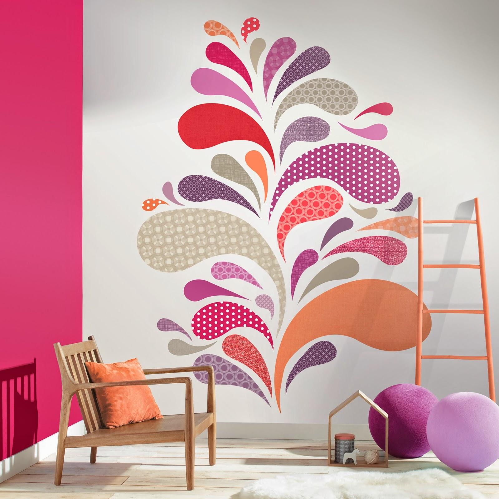 Boutique papel pintado mayo 2014 for Papel pintado fucsia