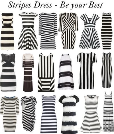 Vestidos de rayas blancas y negras