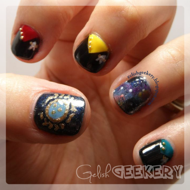Gelish Star Trek Nerd Nails