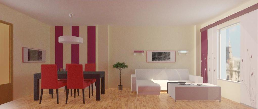 Disegnomai decoraci n de piso en ciudad real - Como pintar un piso pequeno ...