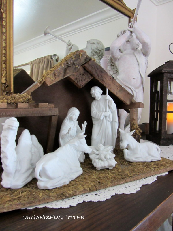 I Have Set Up My Home Interiorsu0027 White Bisque Nativity Set On Top Of My  China Cabinet.