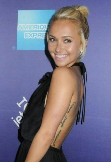 hayden panettiere tattoo. Hayden Panettiere insists she