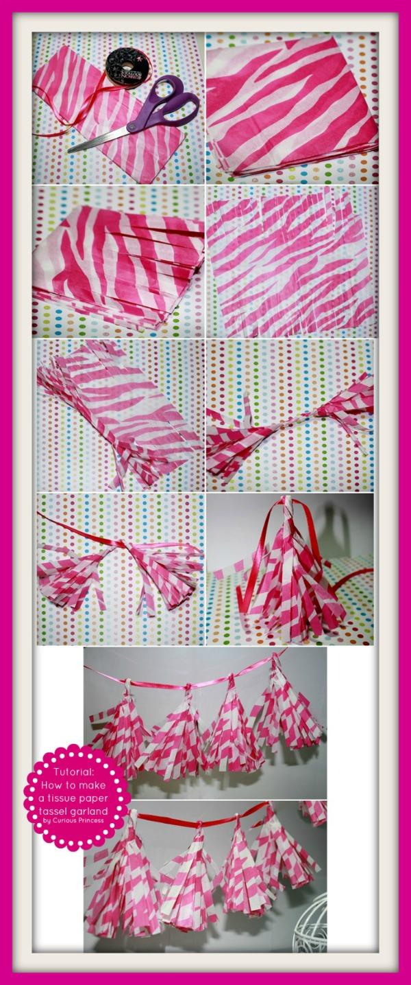 Tissue paper tassel tutorial - Www Curiousprincess Com