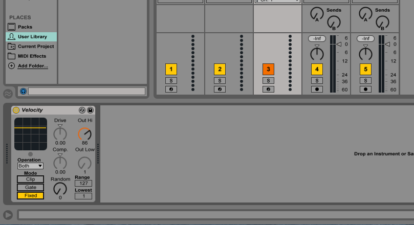 how to change velocity on ableton