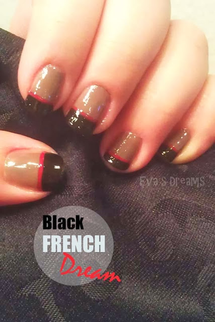 Nails of the week: Nail art design - Black French mit Highlight