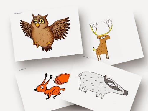Grundschule :: Material & Arbeitsblätter: Bildkarten Tiere im Wald ...