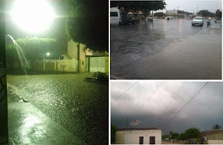 Primeira chuva do ano é registrada em cidades do Seridó e Curimataú
