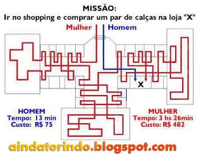Missão ir ao shopping