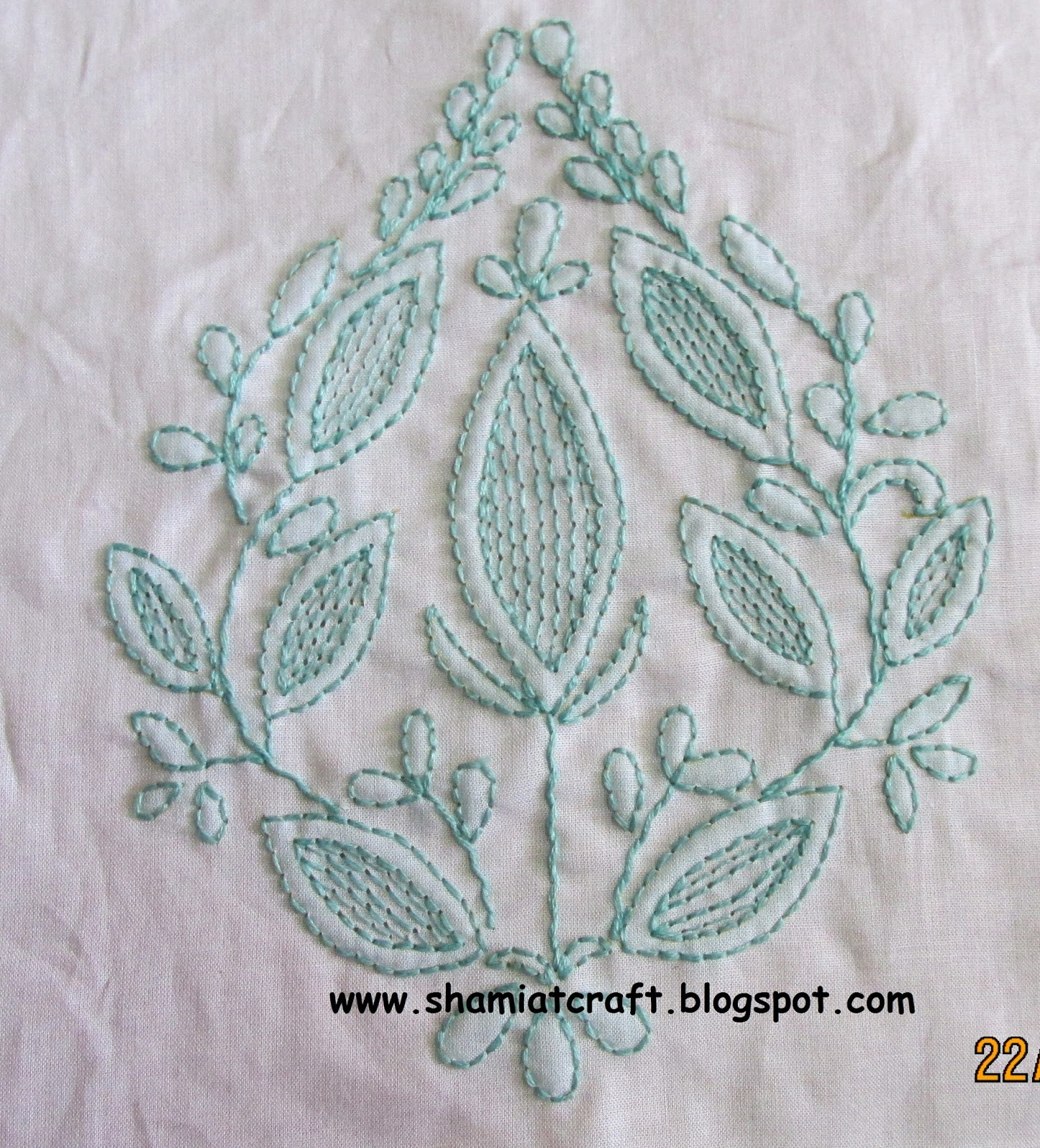 My Craft Works Chikan Embroidery Design