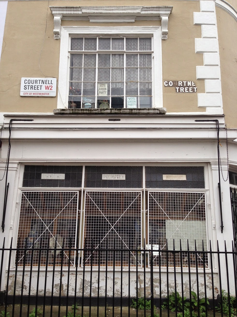 Ghost sign in Courtnell Road, London W2