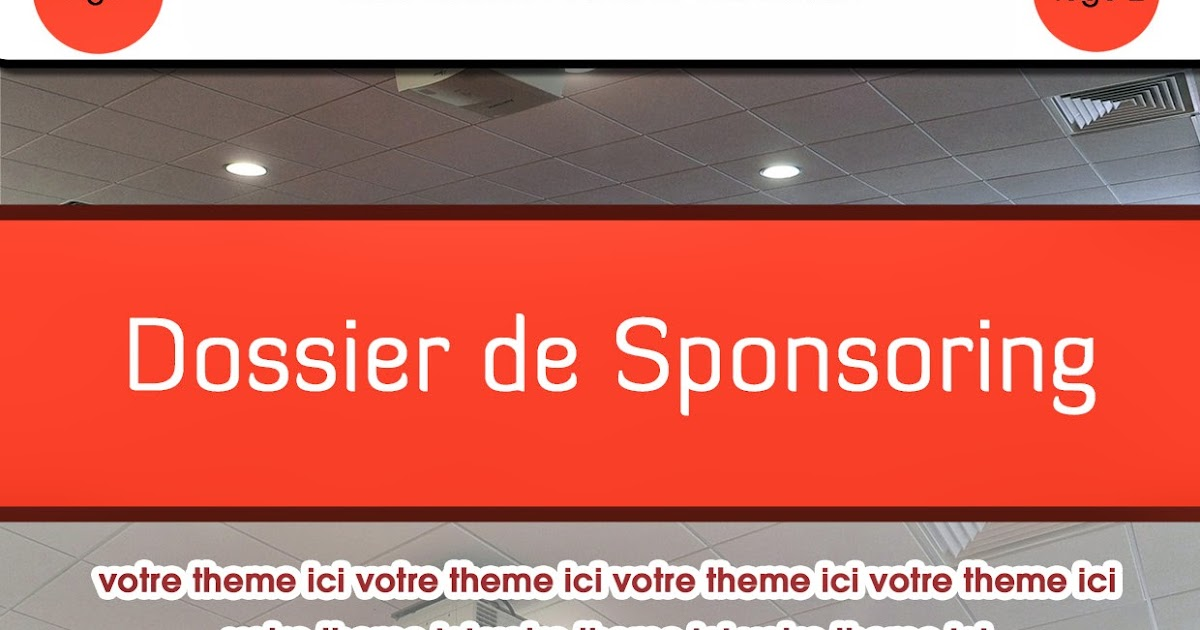 exemple de page de garde de dossier de sponsoring
