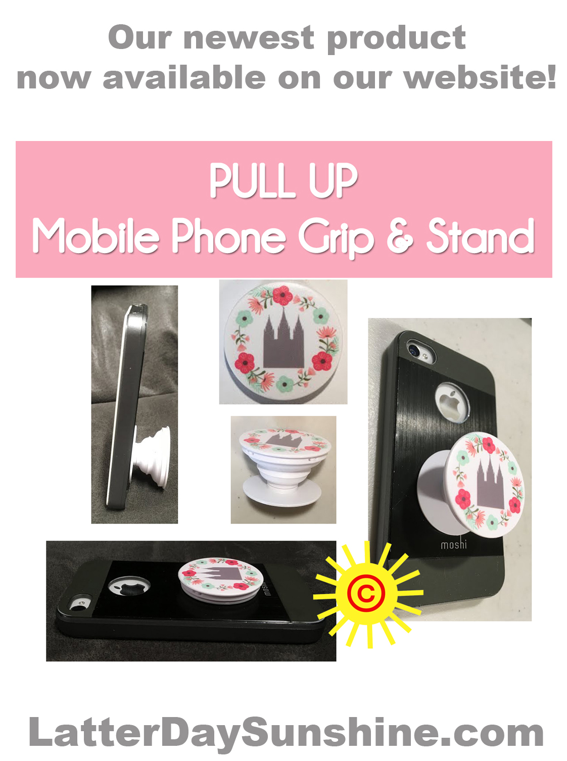 TEMPLE PHONE GRIP & STAND