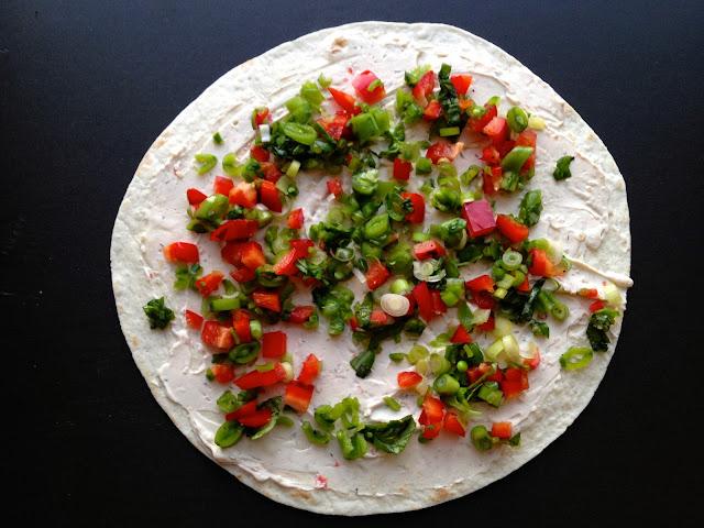 Små pikante wraps - vegetar - mit livs kogebog