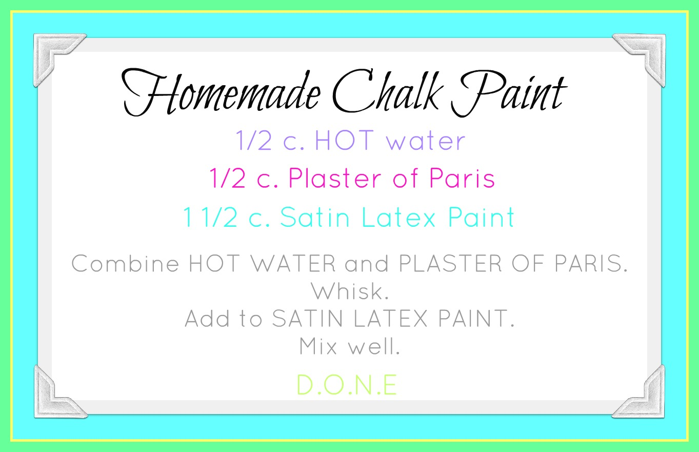 our prairie home homemade chalk paint recipe