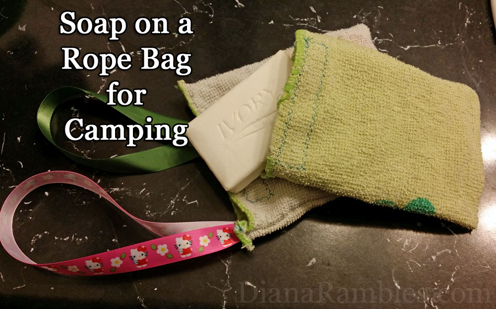 DIY Soap in a Bag on a Rope for camping