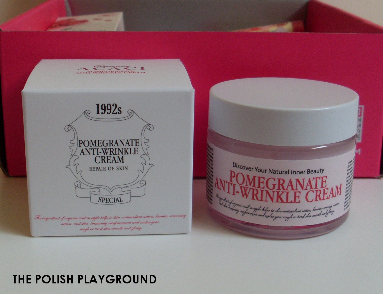 Memebox Superbox #40 Pomegranate Cosmetics Unboxing - Chamos Acaci Pomegranate Anti-Wrinkle Cream