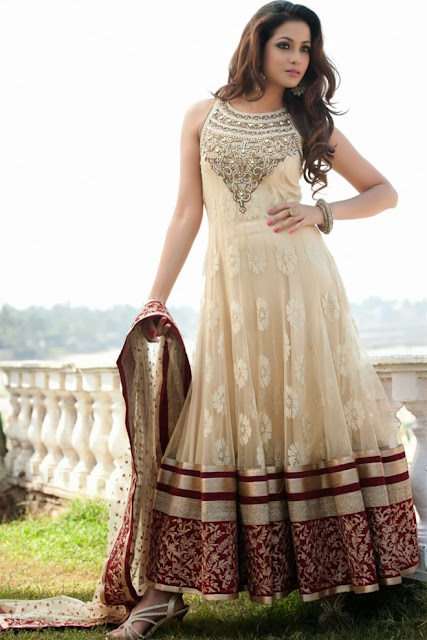 5d603dff4cc Latest Stylish and Fancy Indian Anarkali Umbrella Frock designs and  Churridaar Suits 2014-2015