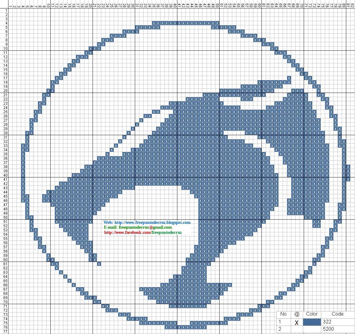 Logo Los Thundercats Punto De Cruz 15 X 14 Centimetros 82 X 77 Puntos