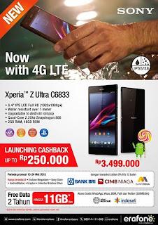 Promo Sony Xperia Z Ultra LTE C6833 di Erafone