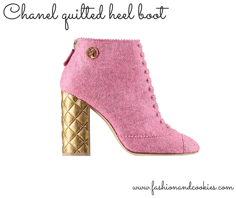 Chanel pink quilted heel ankle boots on Fashion and Cookies fashion blog, fashion blogger wishlist