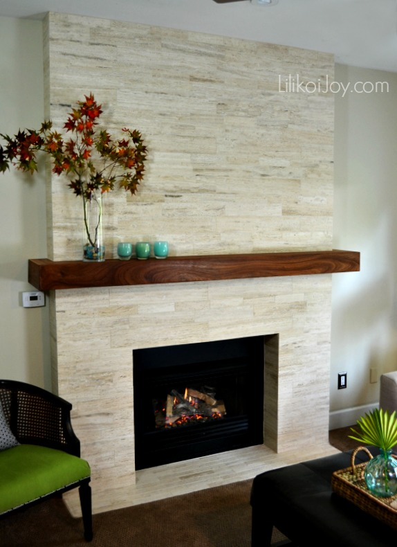 Family Room Fireplace Makeover: Before and After | Lilikoi Joy