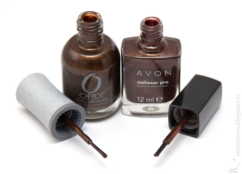 Orly Buried Alive vs Avon Deluxe Chocolate