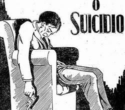 Propaganda de remédio para auxílio de funcionamento dos rins que usa a imagem de um suicida.