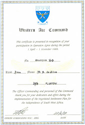 WAC (western air command) certificate
