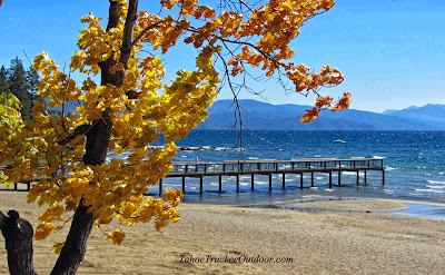 Lake Tahoe explodes with fall color