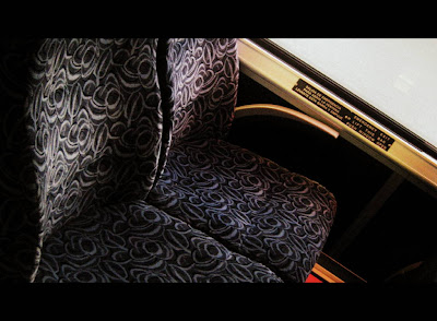 My Regular Seat on My Regular Bus - Photo by Michelle Judd of Taste As You Go