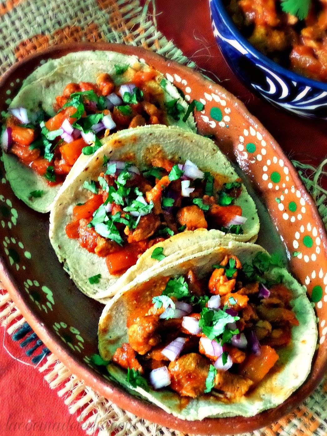 Tacos de Adobada / Tacos al Pastor - lacocinadeleslie.com