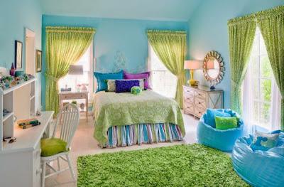 Decoración en azul dormitorio