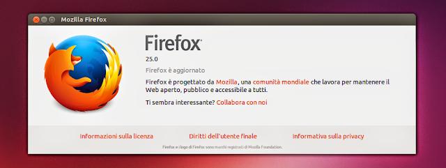 Firefox versão 25