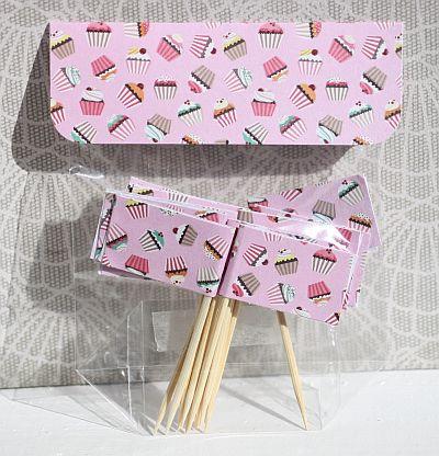 kreative ideen rund ums basteln scrapbooking kochen und backen cupcake toppers. Black Bedroom Furniture Sets. Home Design Ideas