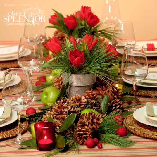 Wedding centerpiece ideas by partyfavorweb on pinterest Small christmas centerpieces