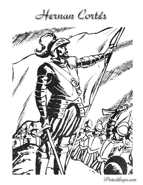 Dibujo para colorear de Hernan Cortes