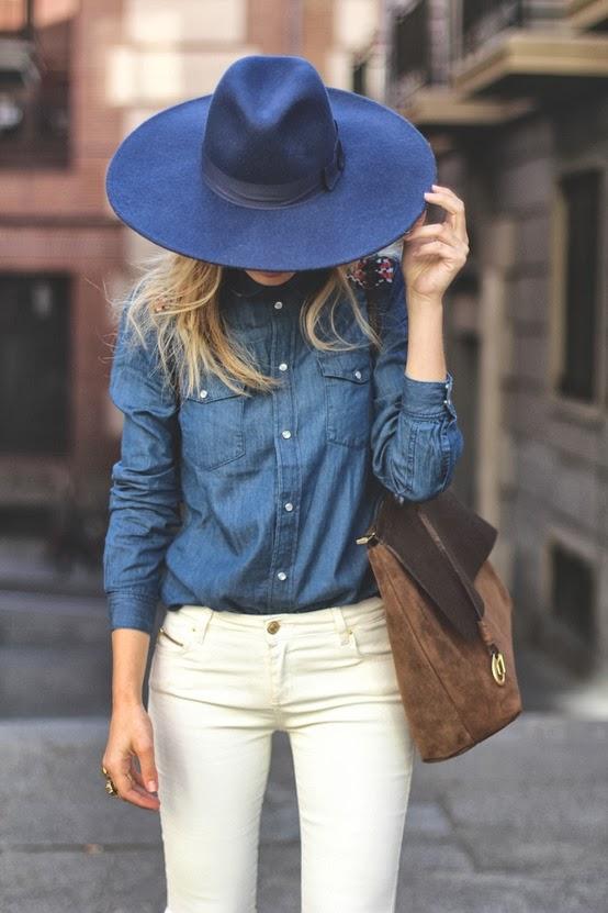 С чем носить темно синюю рубашку