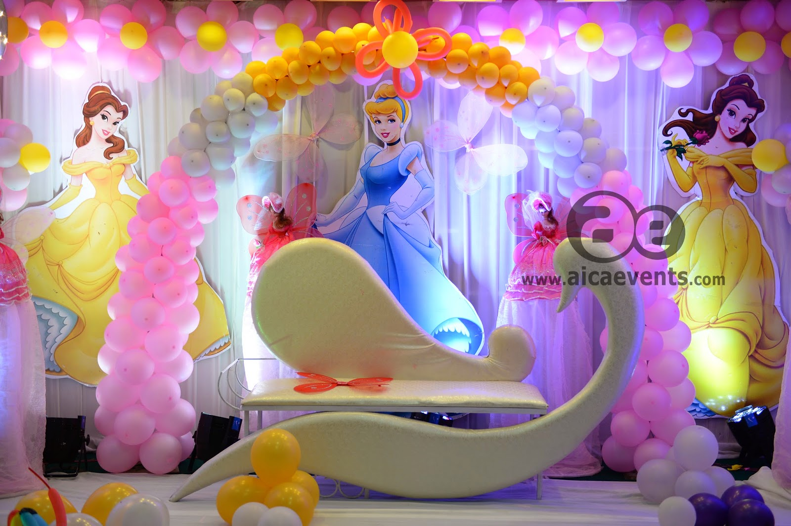 Barbie birthday balloon decoration image inspiration of for Balloon decoration for birthday party in hyderabad