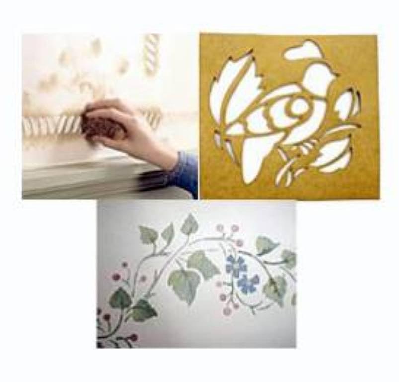 Puertas a la imaginaci n uso de plantillas primera - Como hacer plantillas para pintar paredes ...