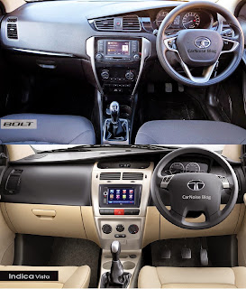 Interior Dash View: Tata Bolt versus Tata Indica Vista Compared