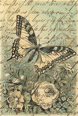 fondo vintage mariposas