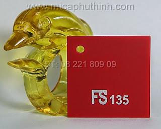 Mica màu đỏ FS 135