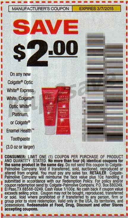 image relating to Colgate Printable Coupons identify Optic white discount coupons - Fresh Retail store Discounts