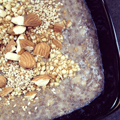 porridge graines de chia et banane