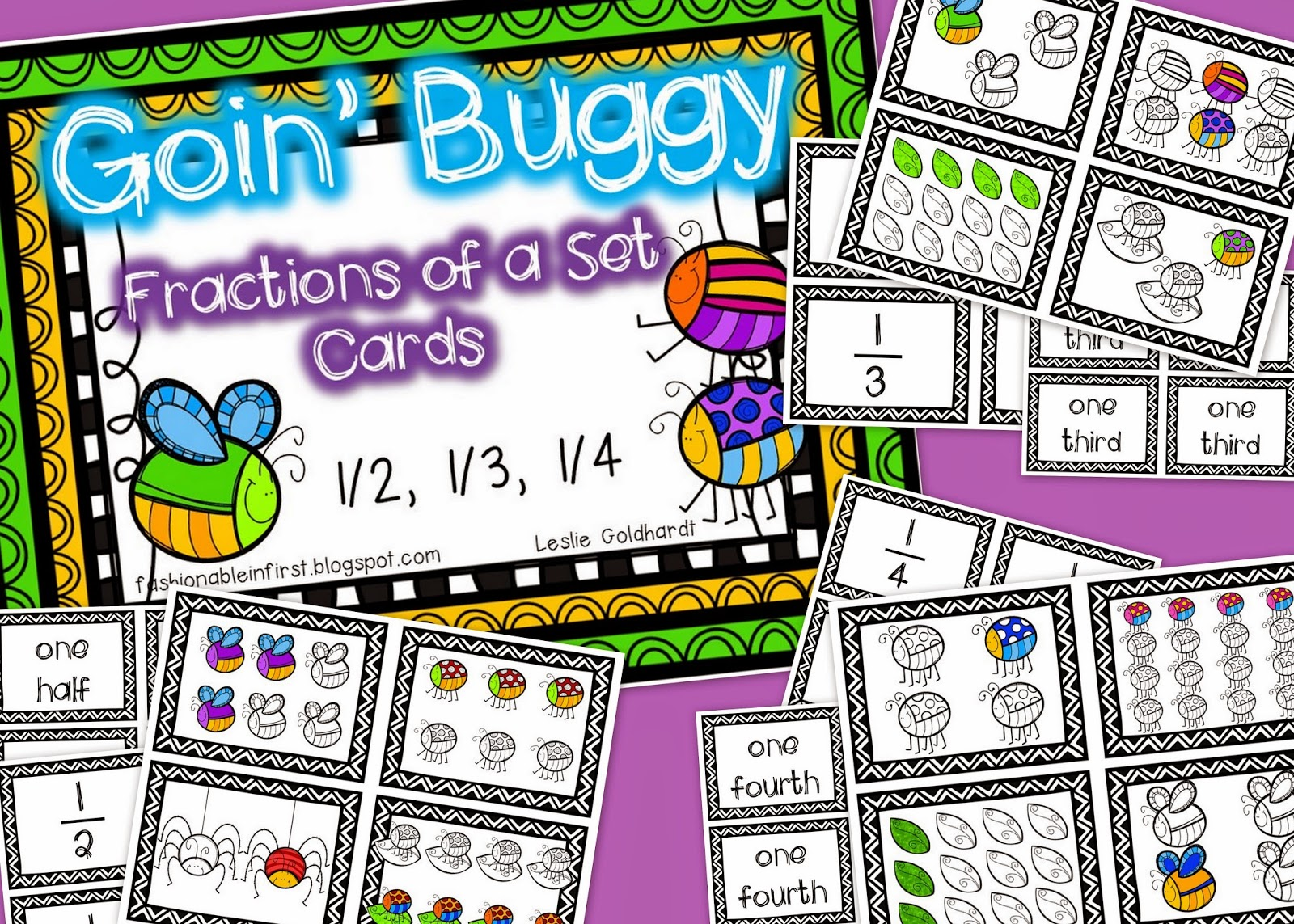 http://www.teacherspayteachers.com/Product/FREEBIE-Goin-Buggy-Fractions-of-a-Set-1205739