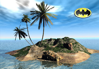 Batman Free Wallpapers Logos in 3D Island background